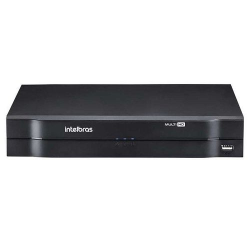 MHDX 1104 C/ HD 8TB - GRAV. DIG. DE VÍDEO 4 CANAIS 1080p LITE - INTELBRAS MULTI-HD® SÉRIE 1000 - H.265, H.265+, Nova interface gráfica, HDCVI + HDTVI + AHD + IP + ANALÓGICO com HD de 8TB instalado - P  - Sandercomp Virtual