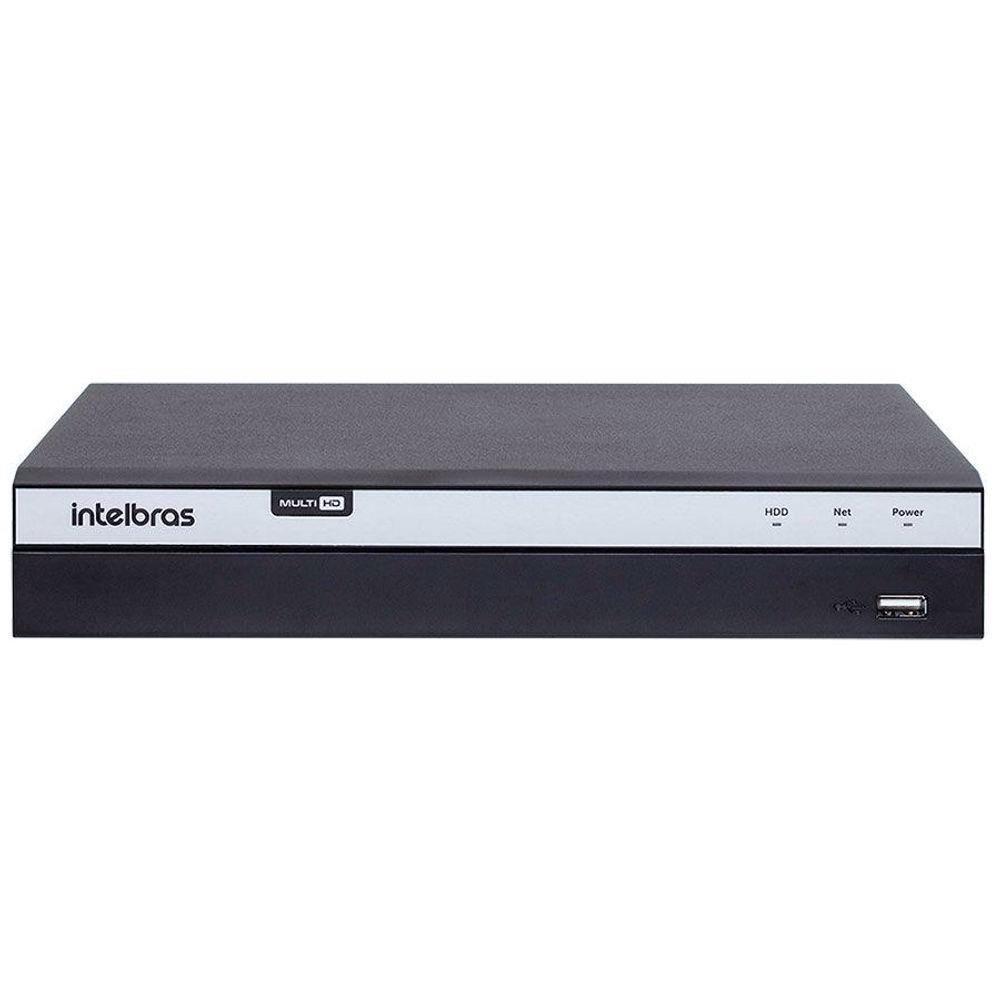 MHDX 5208 C/ HD 3TB - GRAV. DIG. DE VÍDEO 08 CANAIS 4K - INTELBRAS MULTI-HD® SÉRIE 5000 - H.265, H.265+, Analíticos de vídeo, Nova interface gráfica, HDCVI + HDTVI + AHD + IP + ANALÓGICO com HD de 3TB  - Sandercomp Virtual