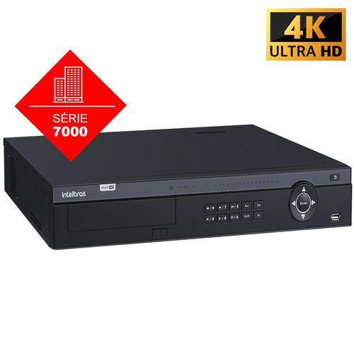MHDX 7132 C/ HD 3TB - GRAV. DIG. DE VÍDEO 32 CANAIS 5MP LITE - INTELBRAS MULTI-HD® SÉRIE 7000 - H.265+, Analíticos de vídeo, Kit para instalação em rack, Suporte a 4 discos rígidos, HDCVI + HDTVI + AH  - Sandercomp Virtual