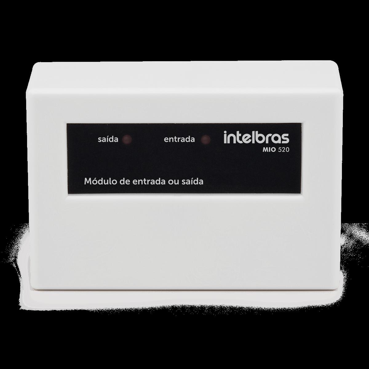 MÓDULO DE ENTRADA E SAÍDA MIO 520 Intelbras  - Sandercomp Virtual