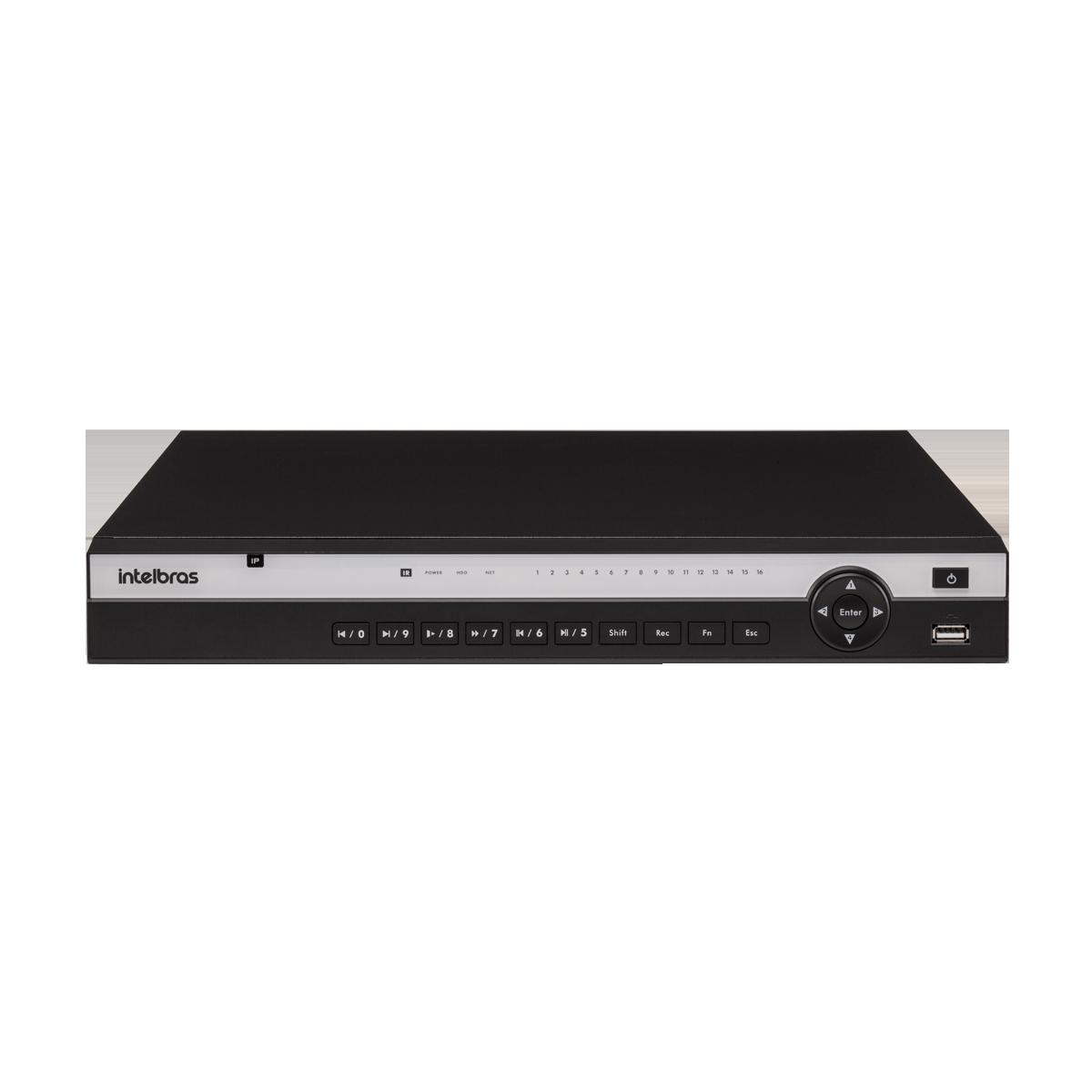 NVD 3116 P C/ HD 10TB - GRAV. DIG. DE VÍDEO EM REDE PARA ATÉ 16 CANAIS IP EM FULL HD @ 30 FPS, COM 16 PORTAS POE, INTELIGÊNCIA DE VÍDEO EM TODOS OS CANAIS, H.265, SUPORTE PARA 2HDS E SUPORTA CÂMERAS C  - Sandercomp Virtual