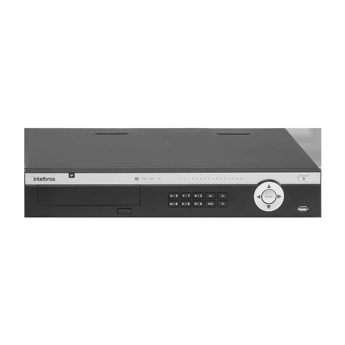 NVD 5124 C/ HD 3TB - GRAV. DIG. DE VÍDEO EM REDE PARA ATÉ 24 CANAIS IP EM FULL HD @ 30 FPS, SUPORTA CÂMERA FISHEYE, INTELIGÊNCIA DE VÍDEO EM TODOS OS CANAIS, H.265, SUPORTE PARA 4HDS E SUPORTA CÂMERAS  - Sandercomp Virtual