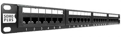 PATCH PANEL 24 PORTAS CAT5E FURUKAWA SOHOPLUS T568A/B  - Sandercomp Virtual