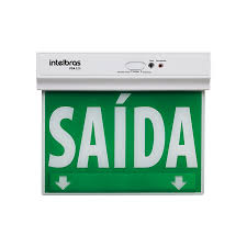 Placa de Sinalização de Saida de Emergencia Led de Dupla Face Psa 225 Intelbras  - Sandercomp Virtual