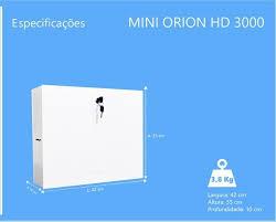 RACK ORGANIZADOR MINI ORION HD 3000 16 CANAIS ONIX SECURITY  - Sandercomp Virtual