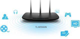 ROTEADOR WIRELESS 450MBPS 3 ANTENAS TL-WR940N TP LINK  - Sandercomp Virtual