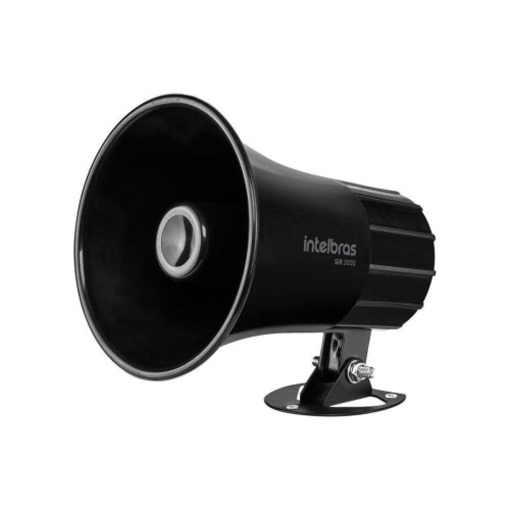 SIRENE 120 dB SIR 3000 - PRETA INTELBRAS  - Sandercomp Virtual
