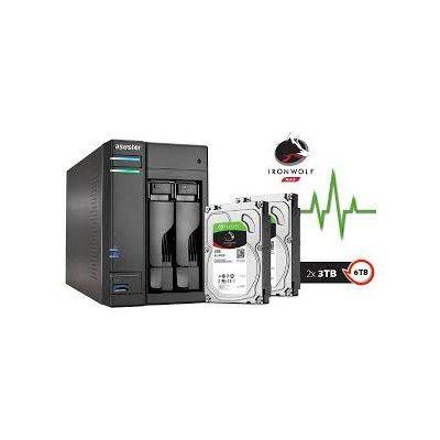 Sistema de Backup NAS com Disco Ironwolf Asustor AS6302T24000 INTEL J3355 2.0GHZ 2GB DDR3 Torre 24TB HOT-SWAP  - Sandercomp Virtual