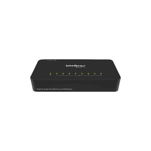 Switch 8 portas Fast Ethernet com VLAN fixa Intelbras  - Sandercomp Virtual