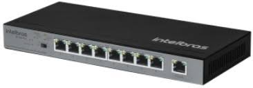 SWITCH INTELBRAS SF 900 COM 9 PORTAS FAST ETHERNET COM 8 PORTAS POE+  - Sandercomp Virtual