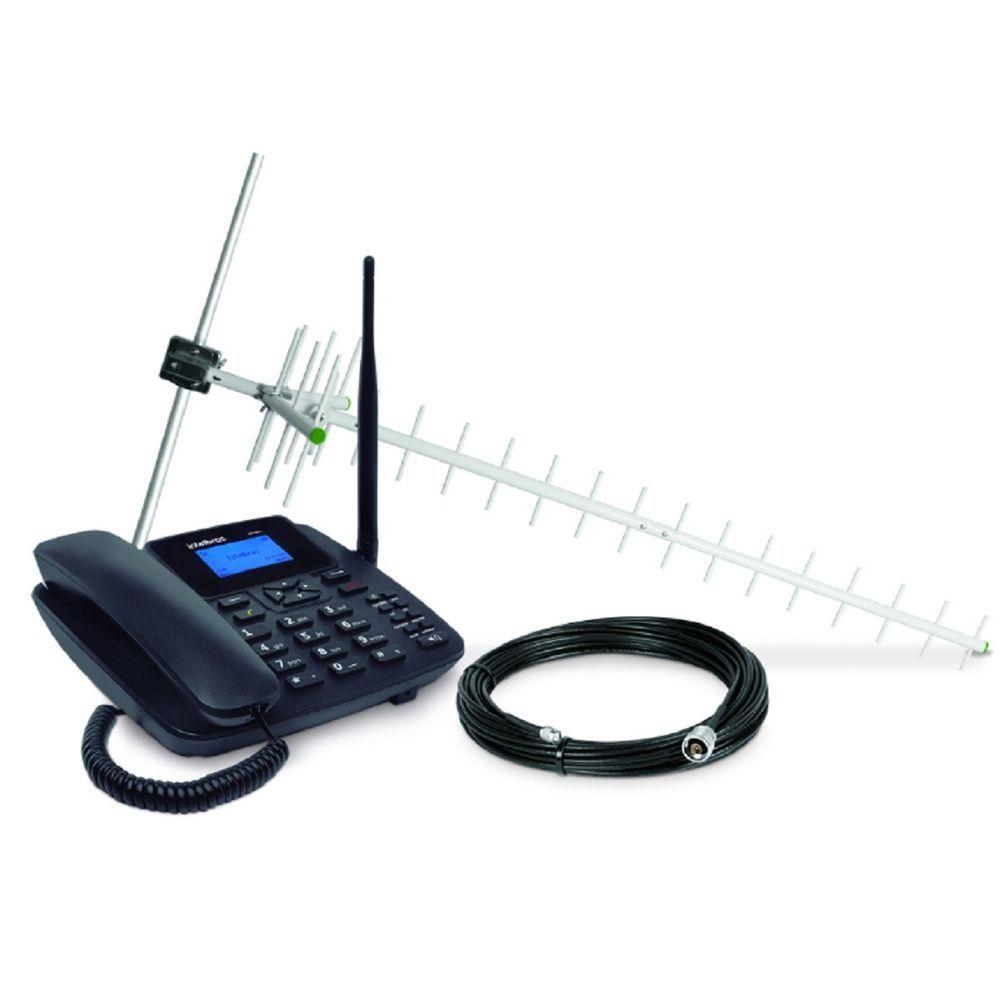 TELEFONE CELULAR FIXO GSM CFA 4211 COM ANTENA INCLUSA DA INTELBRAS  - Sandercomp Virtual