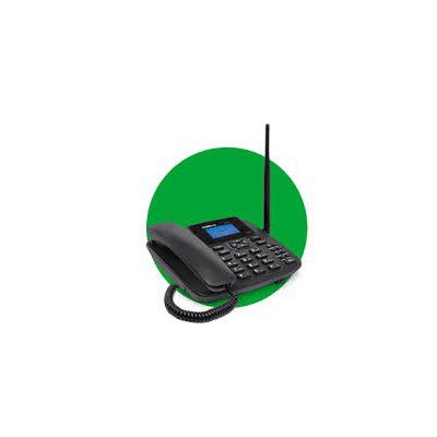 TELEFONE CELULAR FIXO GSM COM ANTENA 2 CHIPS CF 4202 INTELBRAS  - Sandercomp Virtual