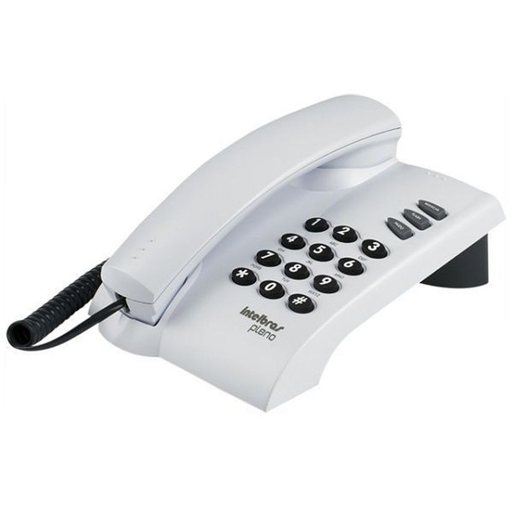 TELEFONE COM FIO PLENO CINZA ARTICO  - Sandercomp Virtual
