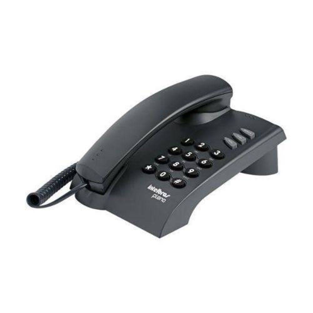 TELEFONE COM FIO PLENO PRETO                                  - Sandercomp Virtual