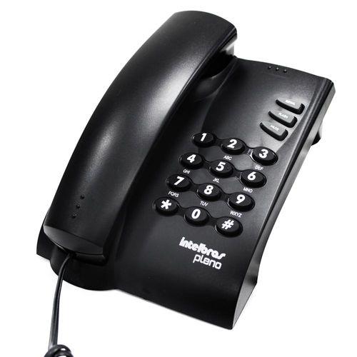 TELEFONE COM FIO PLENO PRETO COM CHAVE                        - Sandercomp Virtual