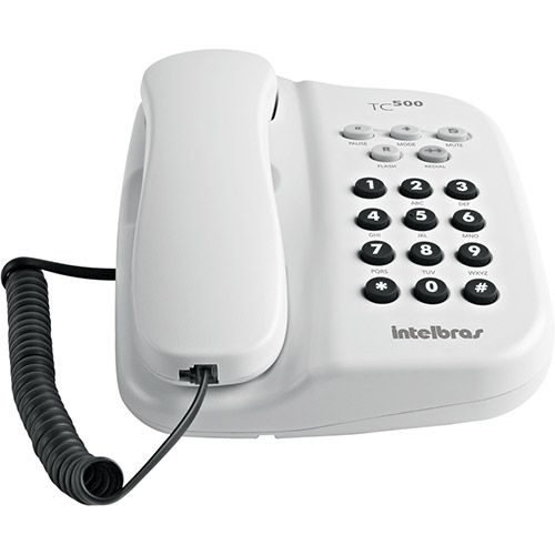 TELEFONE COM FIO TC 500 BRANCO INTELBRAS                             - Sandercomp Virtual