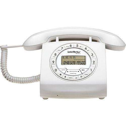 TELEFONE COM FIO TC 8312 BRANCO  - Sandercomp Virtual