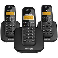 TELEFONE SEM FIO INTELBRAS TS 3113 MAIS 2 RAMAIS  - Sandercomp Virtual