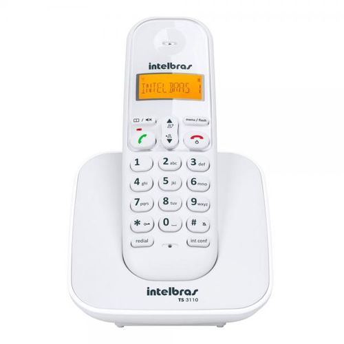 TELEFONE SEM FIO TS 3110 BRANCO INTELBRAS  - Sandercomp Virtual