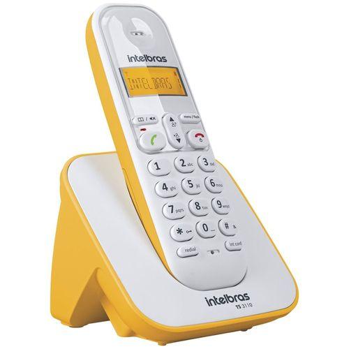 TELEFONE SEM FIO TS 3110 BRANCO E AMARELO INTELBRAS  - Sandercomp Virtual