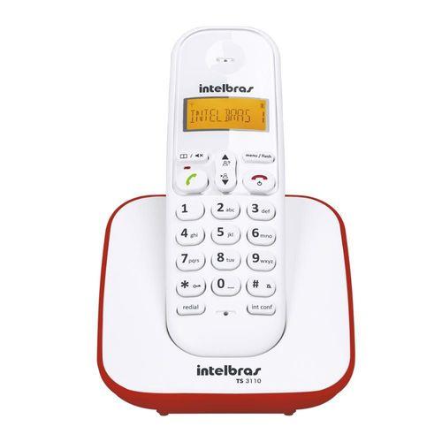 TELEFONE SEM FIO TS 3110 VERMELHO INTELBRAS  - Sandercomp Virtual
