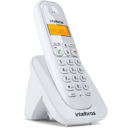 TELEFONE SEM FIO TS 3111 RAMAL BRANCO INTELBRAS               - Sandercomp Virtual