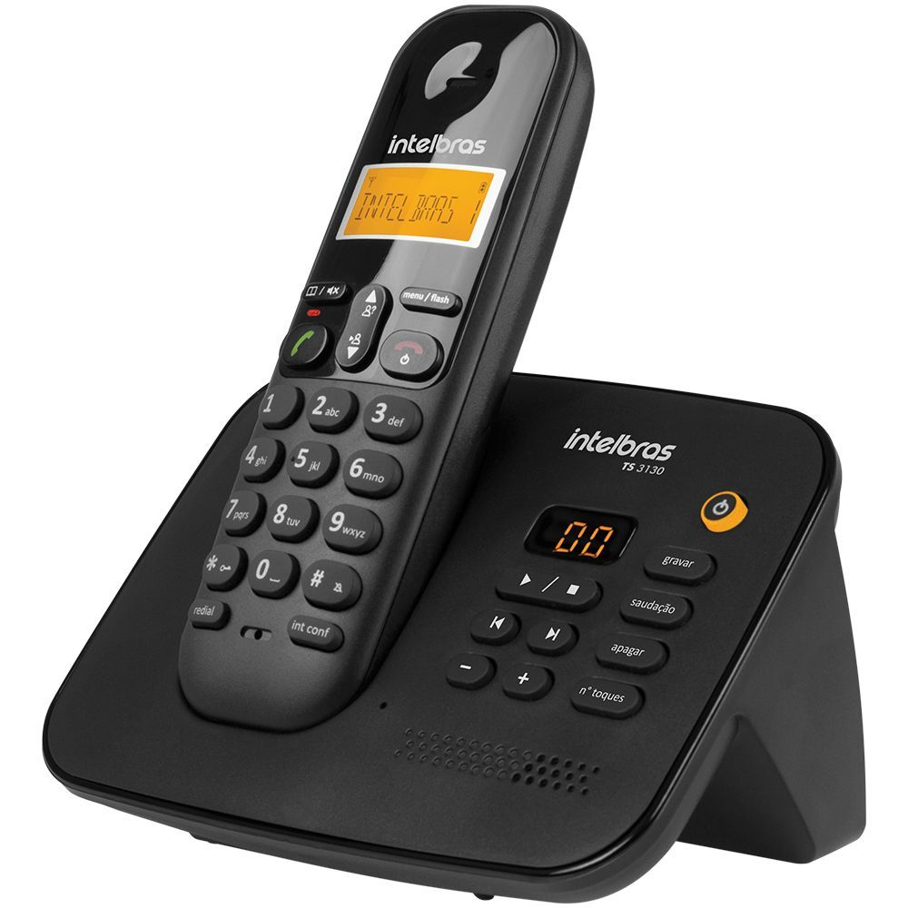 TELEFONE SEM FIO TS 3130 PRETO INTELBRAS - Sandercomp Virtual