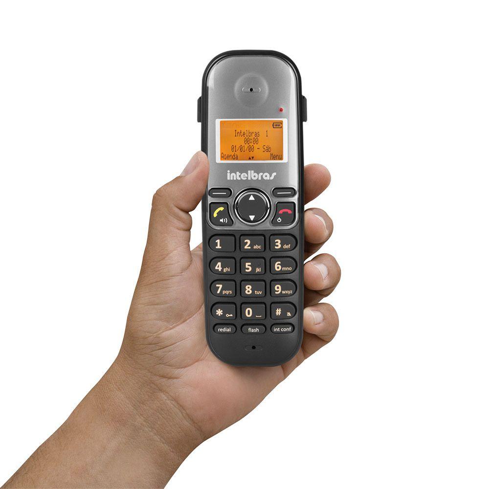 TELEFONE SEM FIO TS 5120 PRETO INTELBRAS  - Sandercomp Virtual