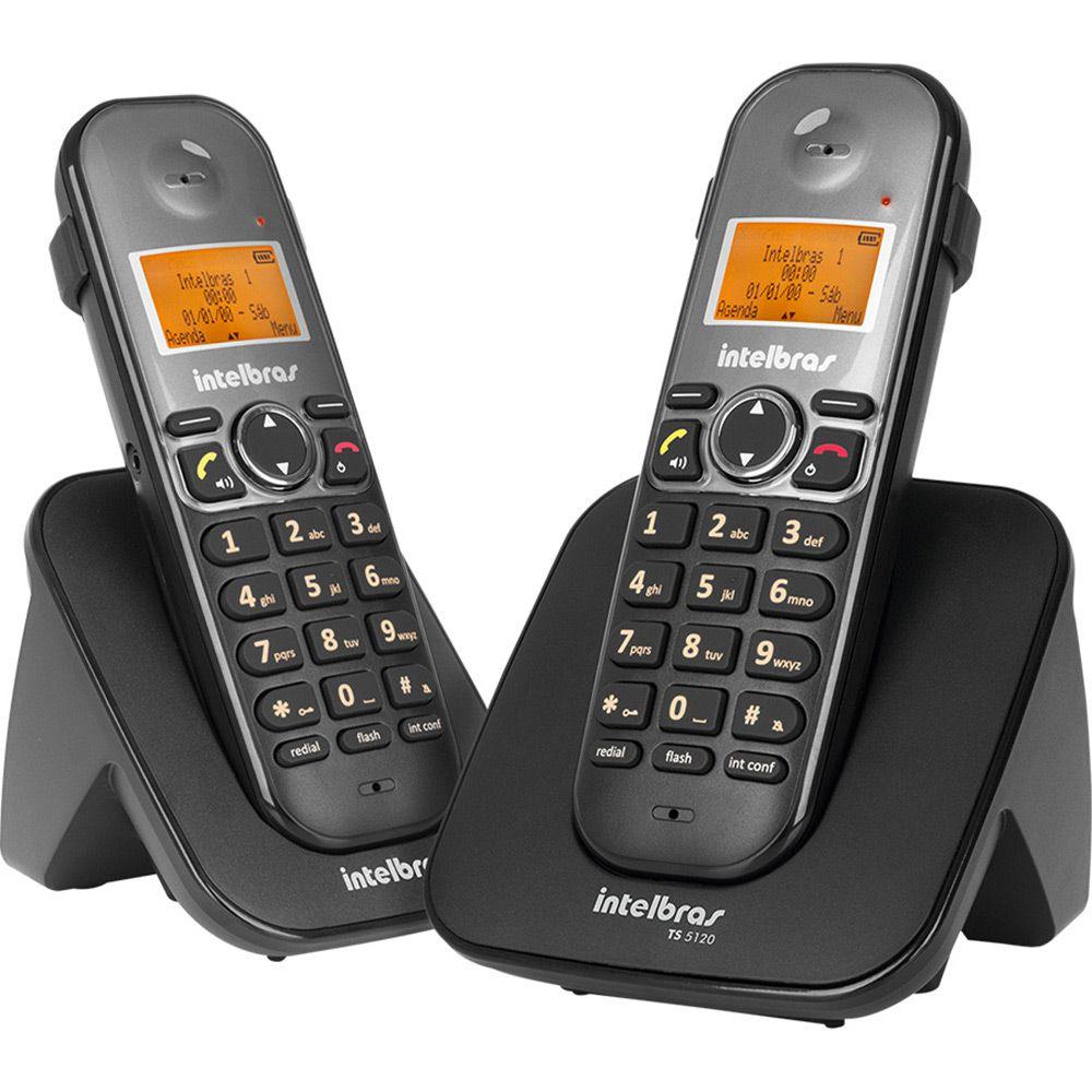 TELEFONE SEM FIO TS 5122 PRETO INTELBRAS  - Sandercomp Virtual