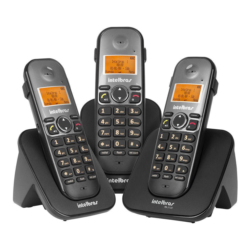 TELEFONE SEM FIO TS 5123 PRETO INTELBRAS  - Sandercomp Virtual
