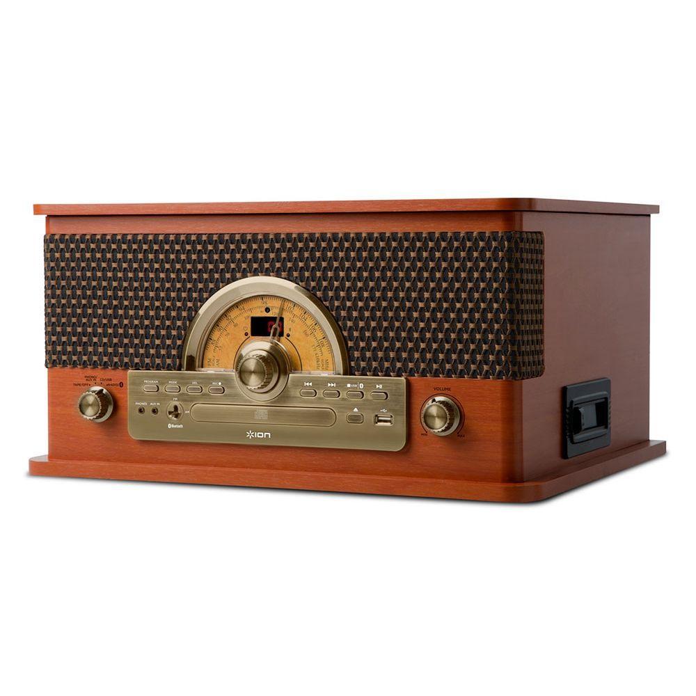 TOCA DISCOS EM ESTILO RETRO, 7 EM 1, COM CONVERSOR DIGITAL  - Sandercomp Virtual