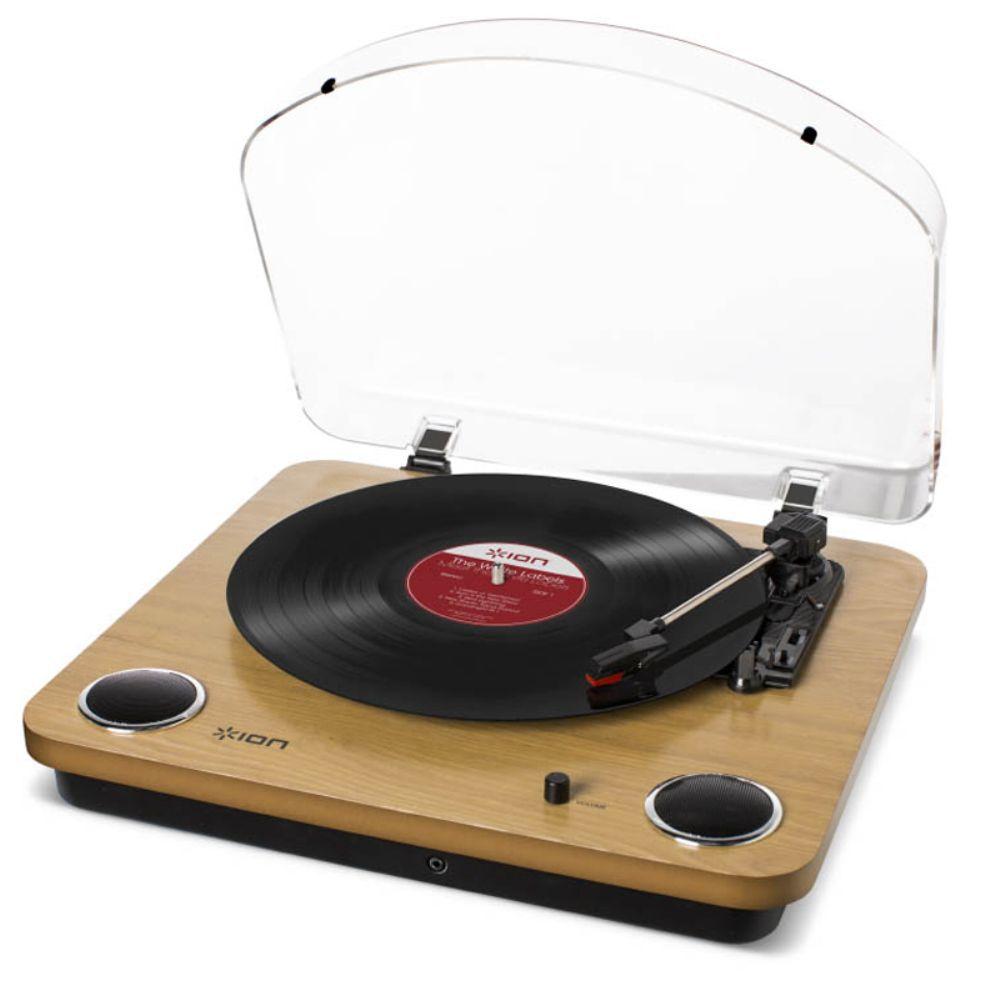 Toca Discos Vinil Ion Max LP com alto falantes, conversão digital, tampa e saída RCA  - Sandercomp Virtual