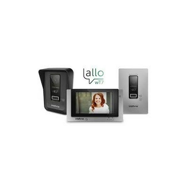 Video Porteiro Wi-Fi Allo wT7 de Embutir Intelbras  - Sandercomp Virtual