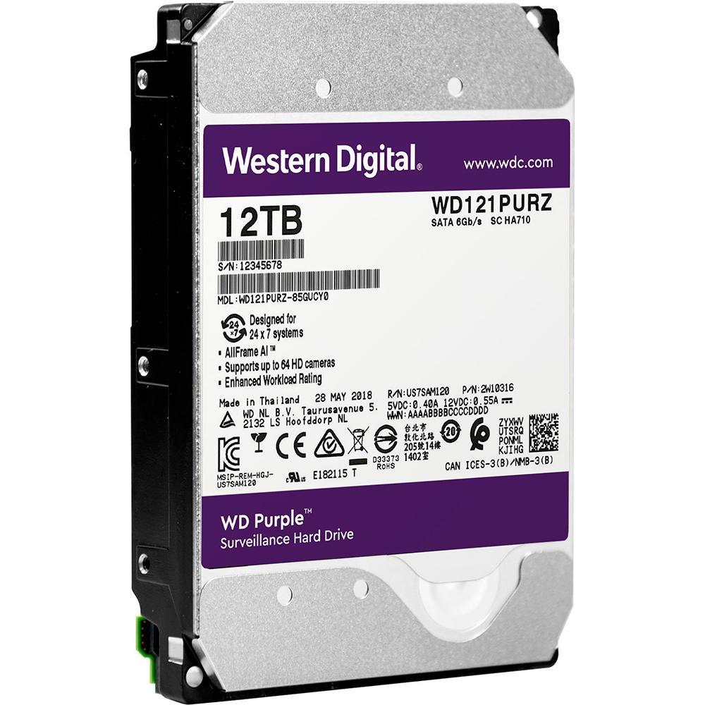 Disco Rígido WD Purple 12TB para CFTV WD121PURZ  - Sandercomp Virtual