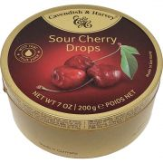 Balas Sour Cherry Drops Cavendish & Harvey - 200g -