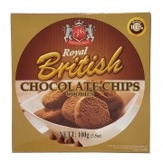 Biscoito Chocolate Chips Cookies Royal British - 100g -