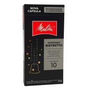 Café em Cápsulas Espresso Ristretto 10 Melitta - 50g -