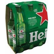 Cerveja Heineken Long Neck 330ml Pack com 6 unidaddes