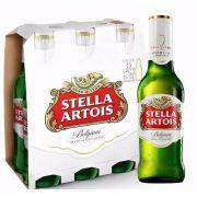 Pack Cerveja Stella Artois Long Neck com 6 unidades - 275ml  -