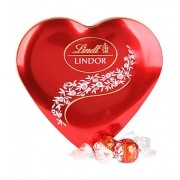 Chocolate Lindt Lindor Milk Heart Tin Suíça 48g