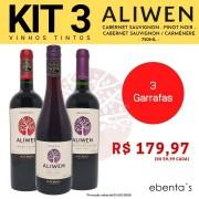 Kit 3 Vinhos Tintos Aliwen Reserva Cabernet Sauvignon / Pinot Noir / Cabernet Sauvignon Carménère
