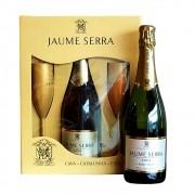 Espumante Jaume Serra Cava Brut Espanha 750ml 1 garrafa + 2 taças