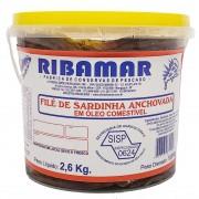 Filé de Sardinha Anchovada Ribamar - 2,6kg -