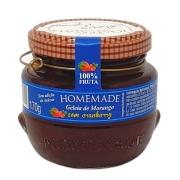 Geleia de Morango com Cranberry Sem Adição de Açúcar Homemade - 170g -
