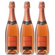 Kit 3 Espumantes Chandon Passion Rosé Demi-Sec - 750 ml -