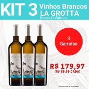Kit 3 Vinhos Brancos La Grotta Bianco Di Salento