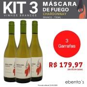 Kit 3 Vinhos Brancos Máscara de Fuego Chardonnay