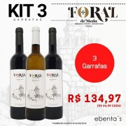 Kit 3 Vinhos Foral de Meda (2 Tintos + 1 Branco)