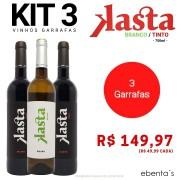 Kit 3 Vinhos Kasta (2 Tintos + 1 Branco)