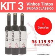 Kit 3 Vinhos Tintos Bridão Clássico